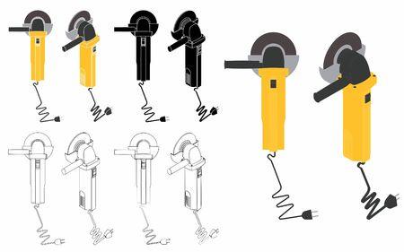 Welding tool - Grinders Ilustração