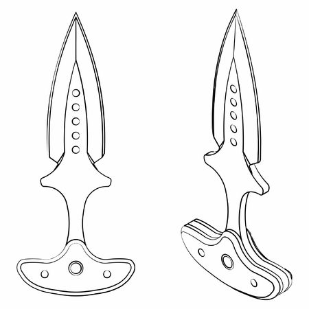 Push dagger vector illustration