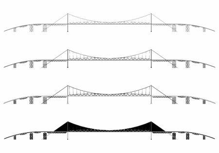 Hercilio Luz Bridge simple skyline. Иллюстрация