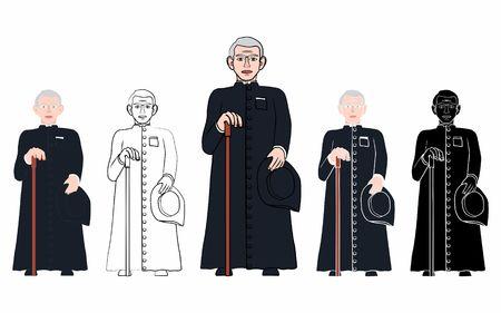 Brazilian Catholic Priest Cicero Иллюстрация