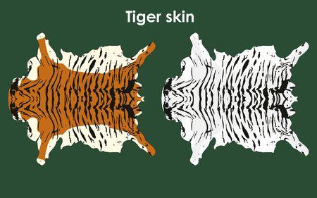 Tiger colored skin Иллюстрация