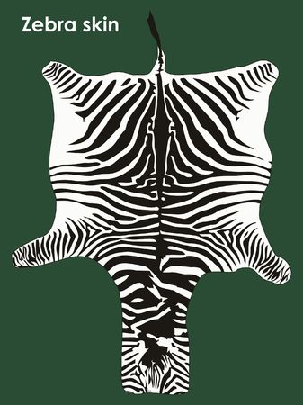 Zebra colored skin