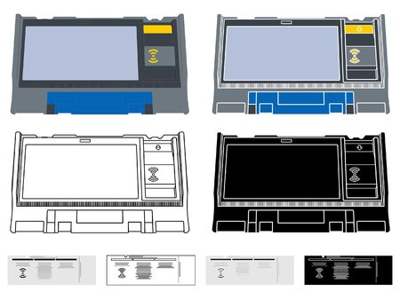Electronics Ballot box Argentina Иллюстрация