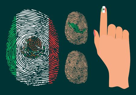 Fingerprint and hand for Mexico