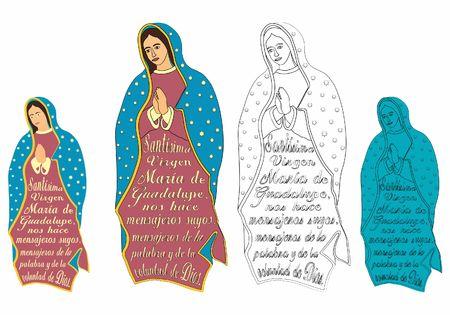 Onze Lieve Vrouw van Guadalupe en uittreksel uit het gebed.