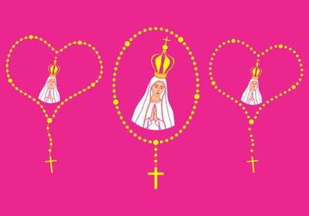 Our Lady of Fatima and Rosary.