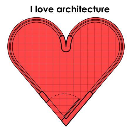 I love architecture Иллюстрация