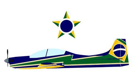 Stunt Plane Brazilian Smoke Squadron
