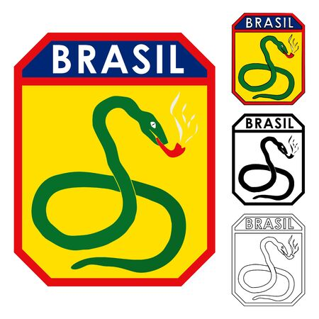 Smoking Snakes. Famous Brazilian Army Symbol
