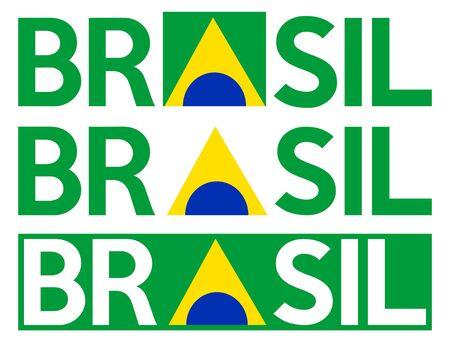 Brazil logo written