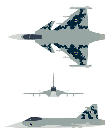 New Brazilian Military Fighter Plane. Camouflage painting