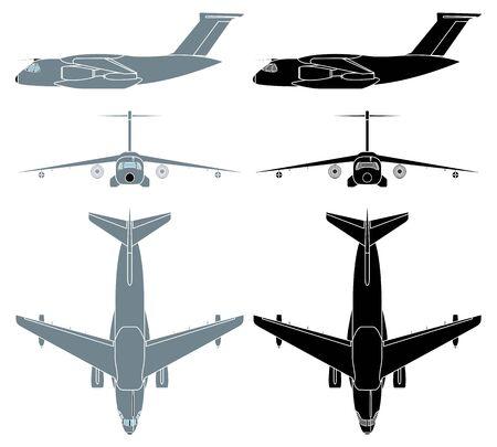 Brazilian military aircraft. Without outline Ilustração