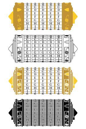 Leonardo da Vinci cryptex invent colored