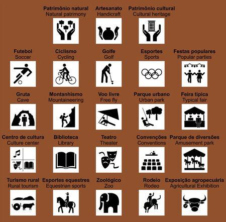 Brazilian road tourist symbols. Not official