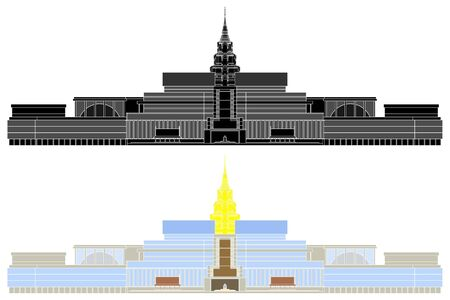 New Parliament Building of Thailand without outline.