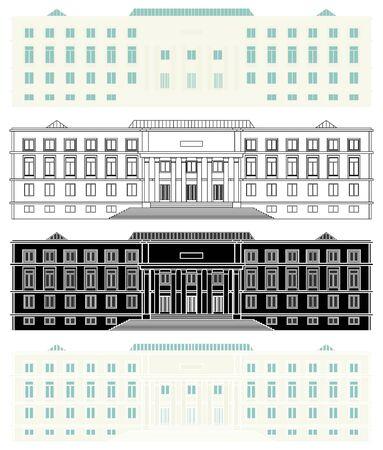 House of paper in front view Ilustração