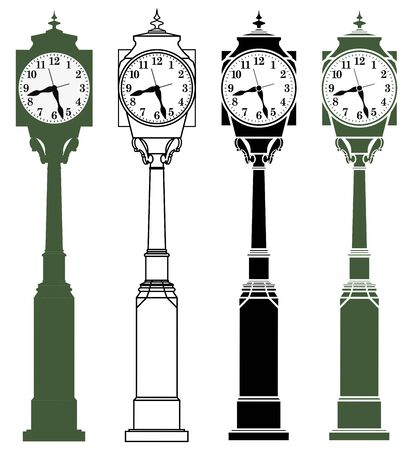 Wise Clock in front view Ilustração