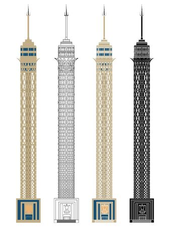 Cairo tower in front view