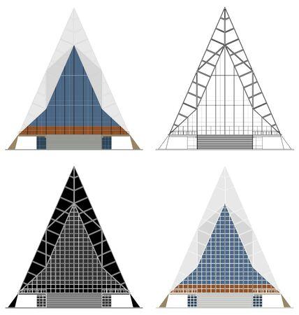 Cadet Chapel in front view Ilustração