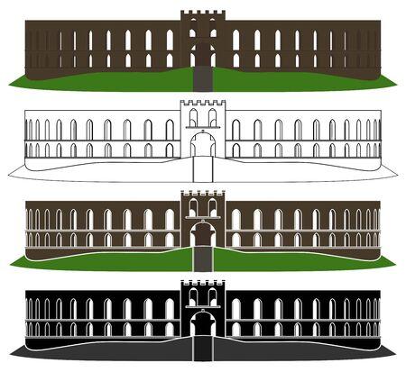 Mccaig tower in front view Ilustração