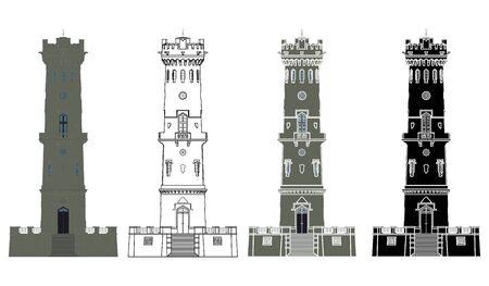 Decinsky Sneznik Tower in front view