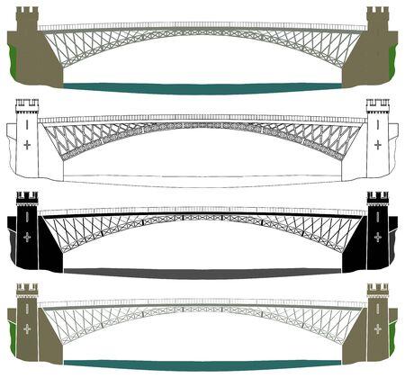Craigellachie bridge in front view Ilustração