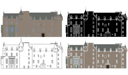 Castle Menzies in front view Ilustração