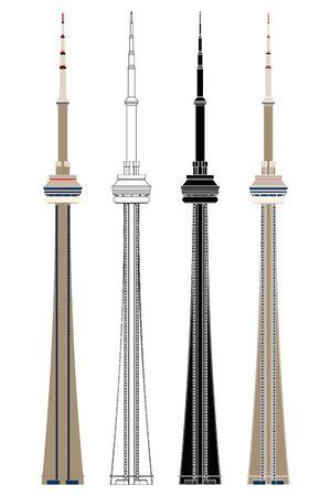 Toronto Tower in front view Ilustração