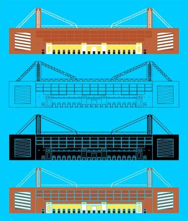 Luigi Ferraris Stadium in front view Banco de Imagens - 149003215