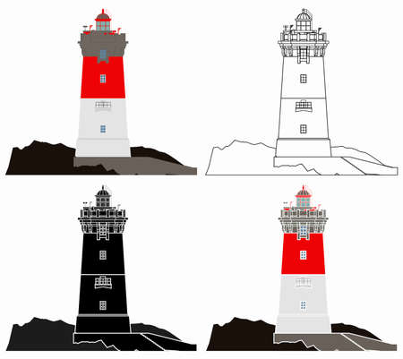 Lighthouse Pierres Noires in France Banco de Imagens - 155771632