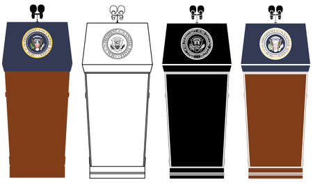 Presidential Blue Goose Lectern colored