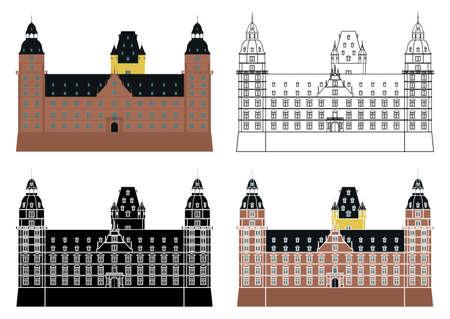 Schloss Johannisburg in Germany, Europe. Banco de Imagens - 157216012
