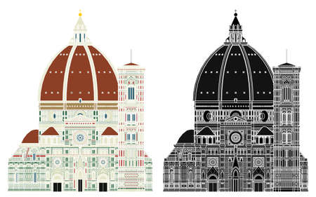 Santa maria del fiore, Italy. Without outline.