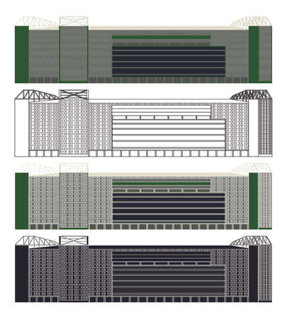 Arena Palmeiras in Sao Paulo, Brazil Çizim
