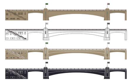 Cha Viaduct, Sao Paulo, Brazil Çizim