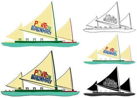 Porto de Galinhas beach. Boat symbol.