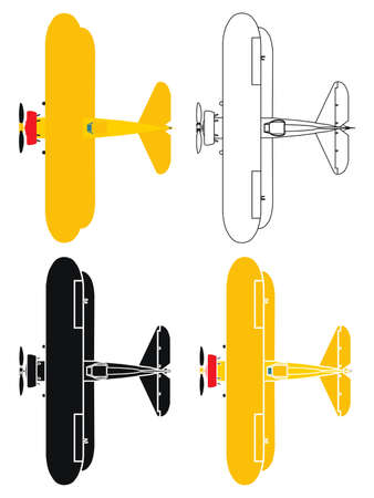 airplane in top view Vectores