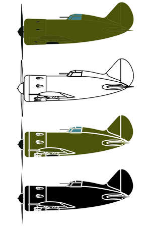 military airplane in right view Ilustração