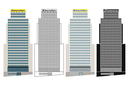 Brazil bank building in Sao Paulo, Brazil Ilustração