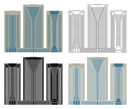 North Tower in Sao Paulo, Brazil Ilustração