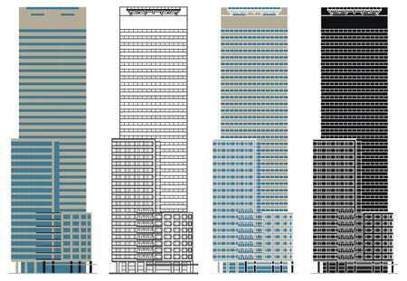 E tower Building in Sao Paulo, Brazil