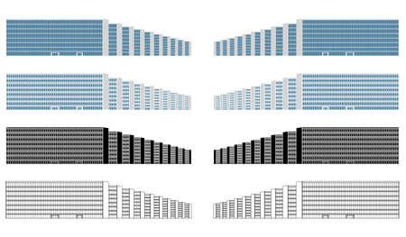 Esplanade of ministries buildings in Brasilia, Brazil Ilustração