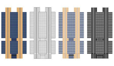 Central Brazil bank building in Brasilia, Brazil Ilustração