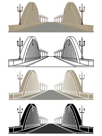 Santa Tereza Viaduct in Belo Horizonte, Brazil Ilustração