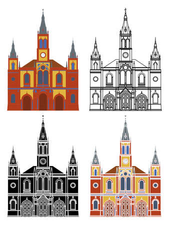 Saint Joseph Church in Belo Horizonte, Brazil Ilustração