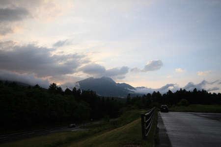 Nagano and Shinano-cho dusk