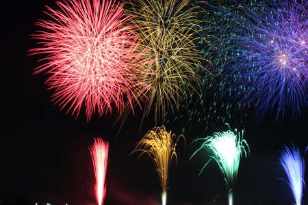 Kuwana Suigo Fireworks Festival 2016 Banque d'images
