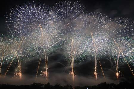 2018 Akagawa Fireworks Festival 写真素材 - 155908672