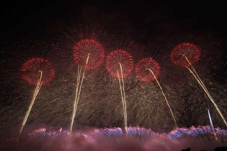 2018 Akagawa Fireworks Festival 写真素材 - 155908780