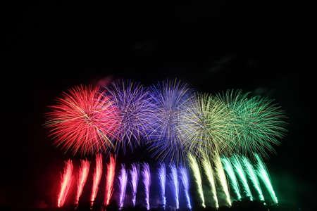 2018 Akagawa Fireworks Festival 写真素材 - 155908840